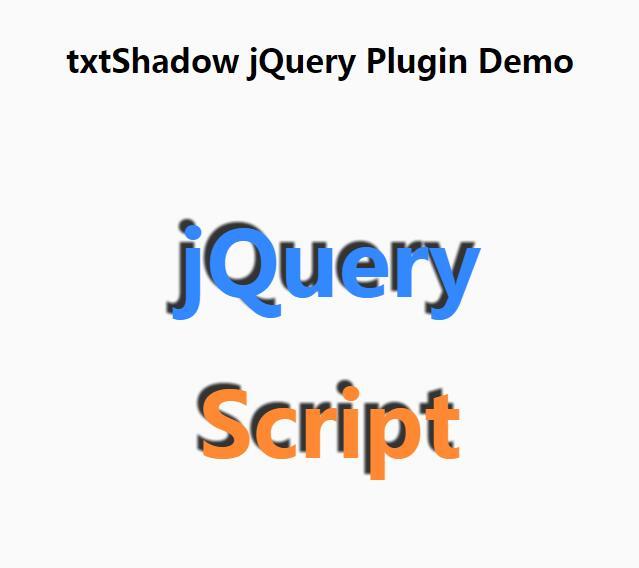 鼠标移动文字定向显示txtShadow阴影特效插件jQuery选择器代码