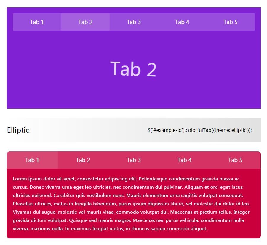 tab选项卡动态切换插件jQuery选择器代码
