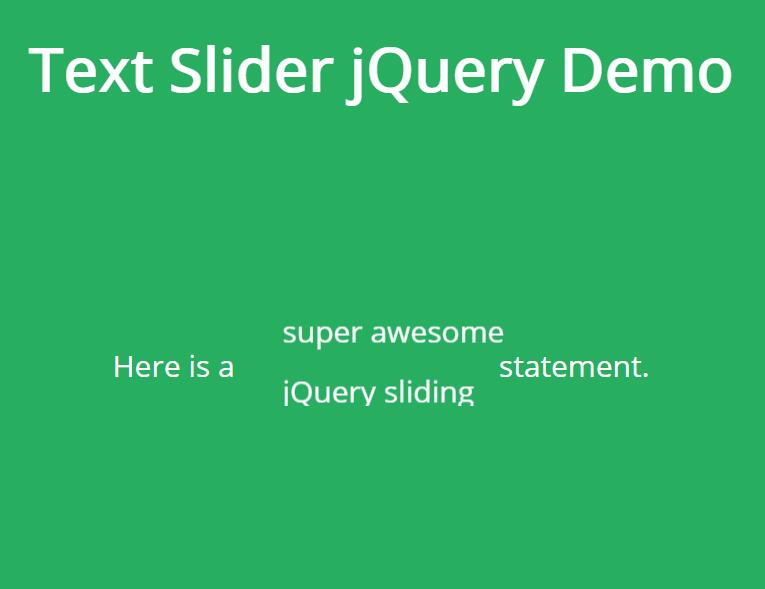 css3文字定时滚动切换插件jQuery选择器代码