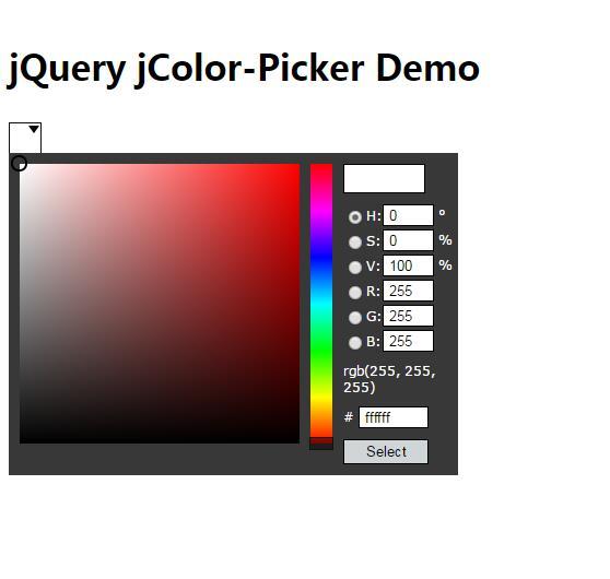 blog网站jQuery网页颜色选择器插件代码