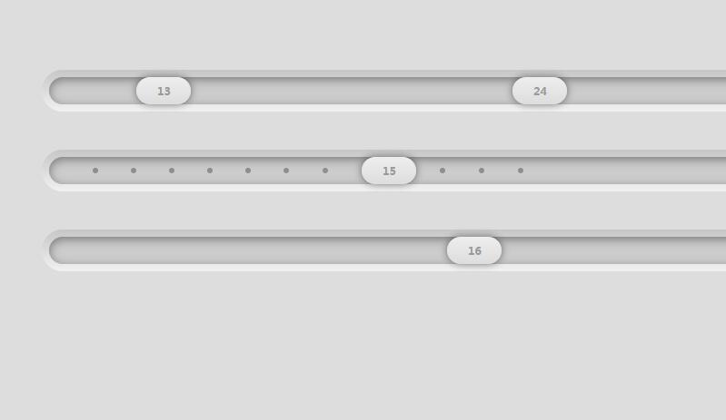 jQuery凹凸3D数字左右滑块拖动插件特效