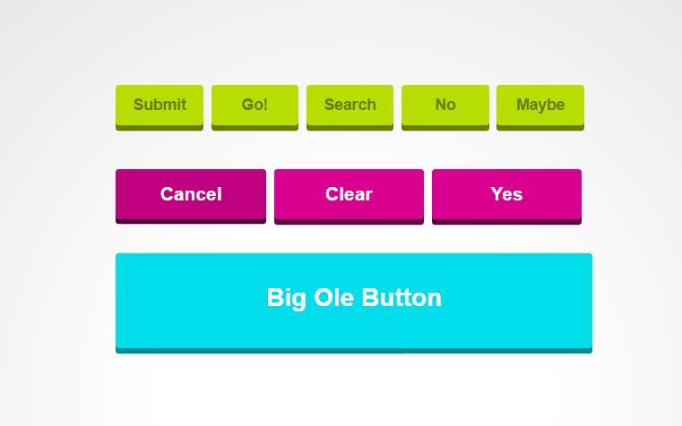 html5css3 3D立体button按钮按下效果样式代码