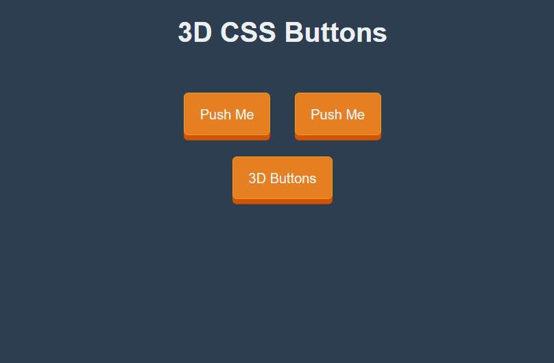 3D css3圆角立体button按钮样式网页素材代码