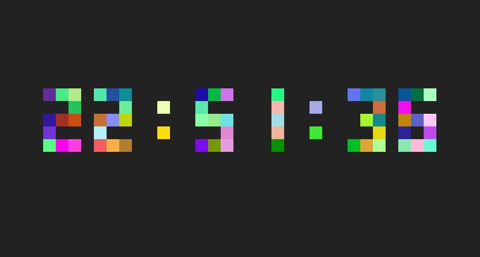 div css五颜六色数字时钟插件JavaScript代码素材