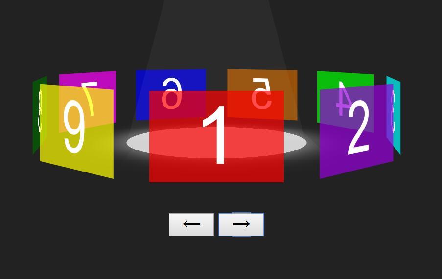 css3透明图片3d旋转木马特效动画样式代码