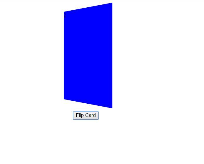 css3 3d卡片前后翻转动画特效html代码素材