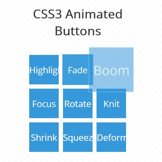 css3动画按钮鼠标悬浮特效网页素材样式代码