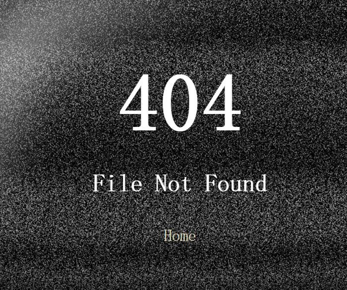 模仿电视机雪花屏幕404页面背景动画黑白闪烁jQuery插件代码