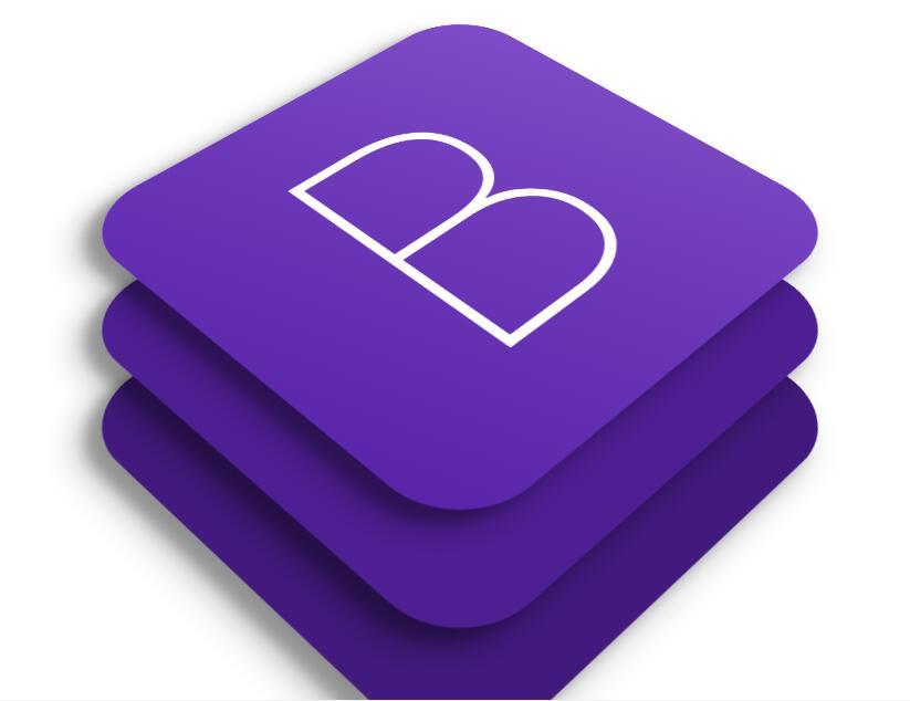 html5css3绘制Bootstrap框架logo图片效果样式代码
