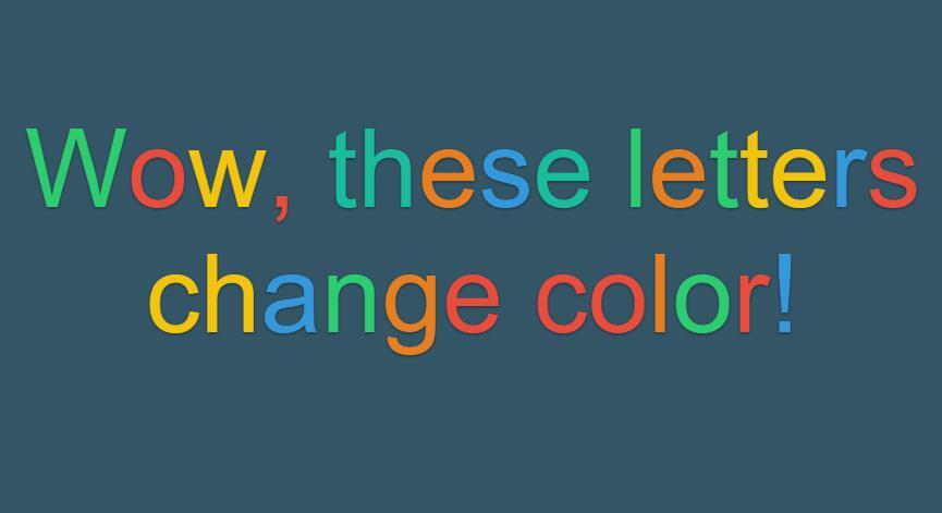 网页文字鼠标悬停字体颜色切换特效JavaScript代码