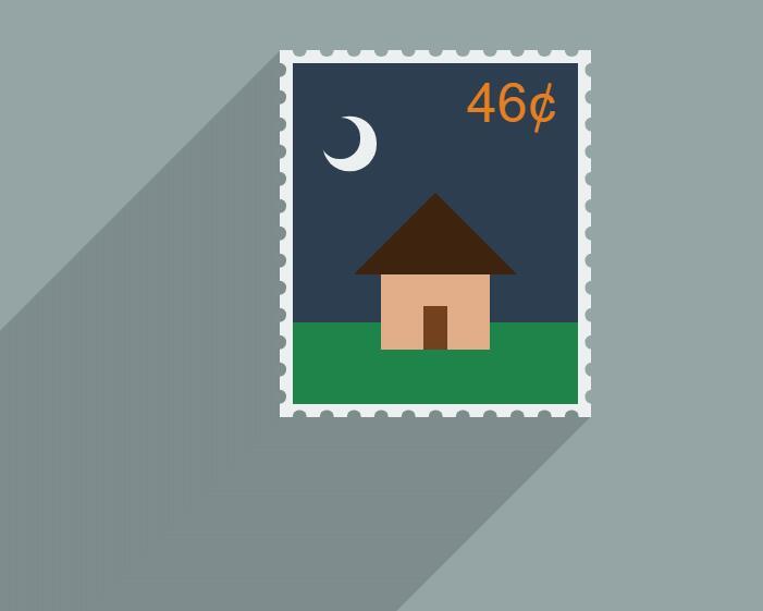 纯div css制作邮票图形阴影效果html网页样式代码