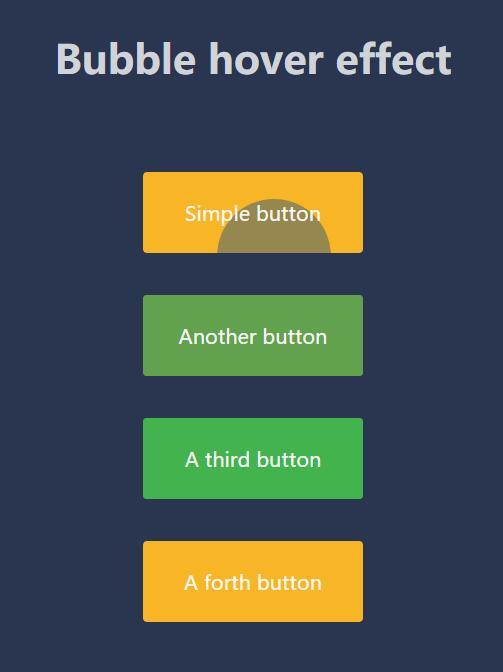 html5css3鼠标悬停button按钮动画效果网页素材代码