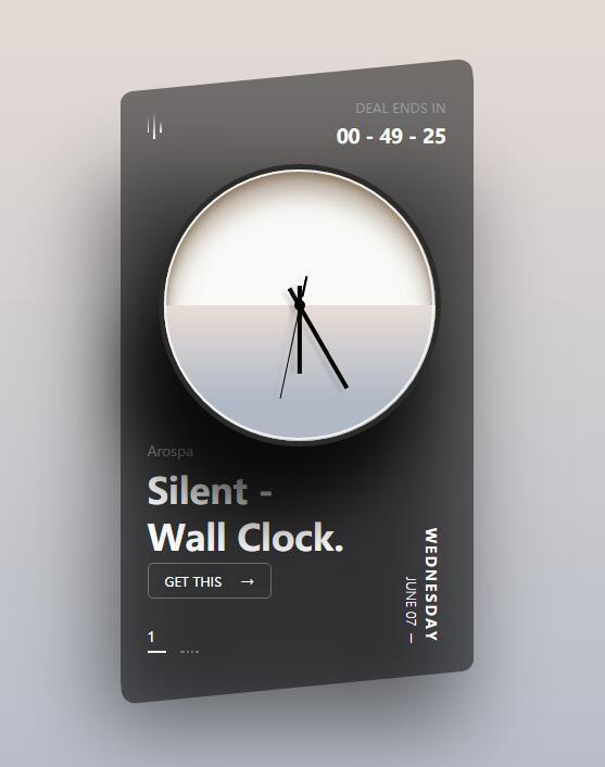 css3阴影倾斜墙上挂钟特效js代码素材下载