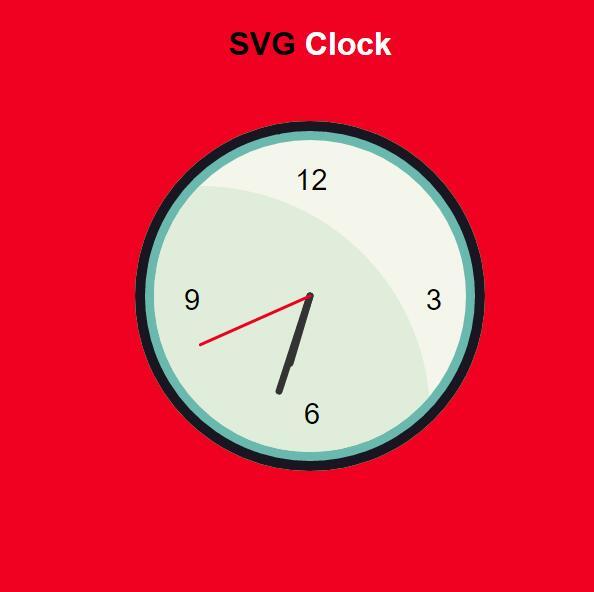 svg动画圆盘时钟插件JavaScript网页素材代码