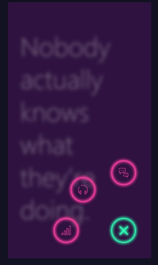 html5css3霓虹灯按钮隐藏显示动画特效web网页代码