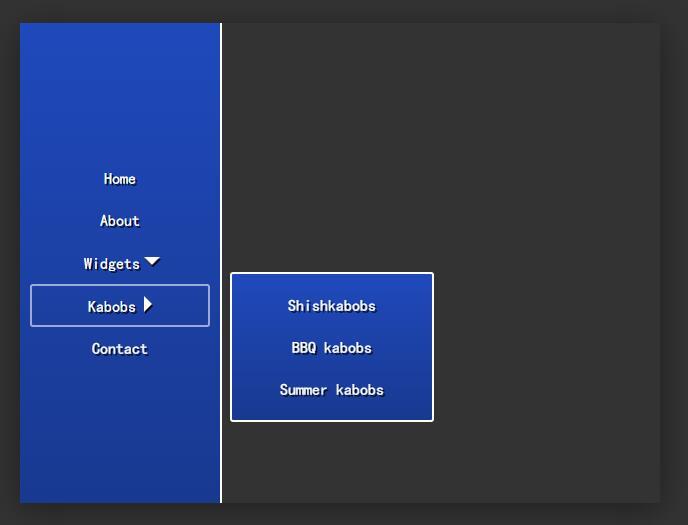 网页左侧菜单二级导航栏tab选项卡插件jQuery选择器代码