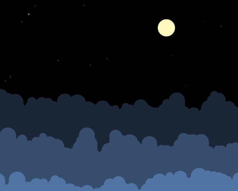 html5css3夜空中星光闪烁白云漂移动画效果样式代码