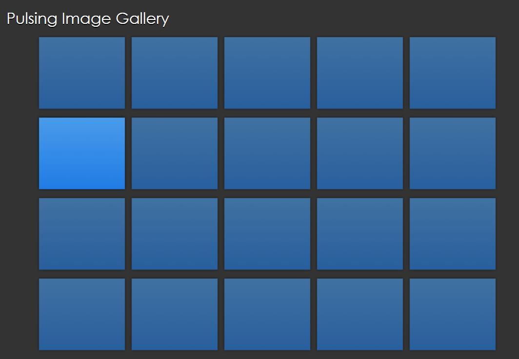 纯css3图片列表鼠标悬停脉冲动画特效网页样式代码