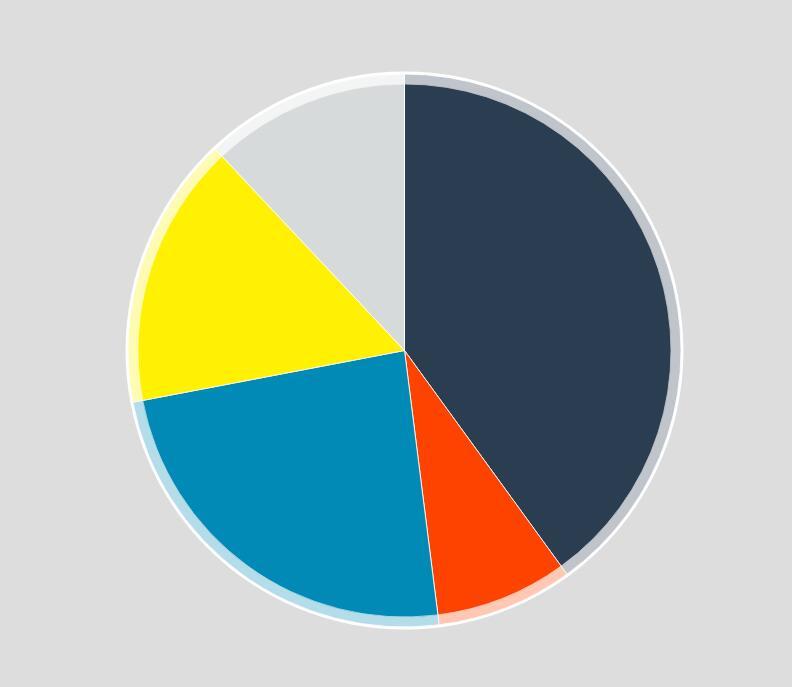 带tooltip文字信息提示和鼠标效果的SVG饼图统计图代码