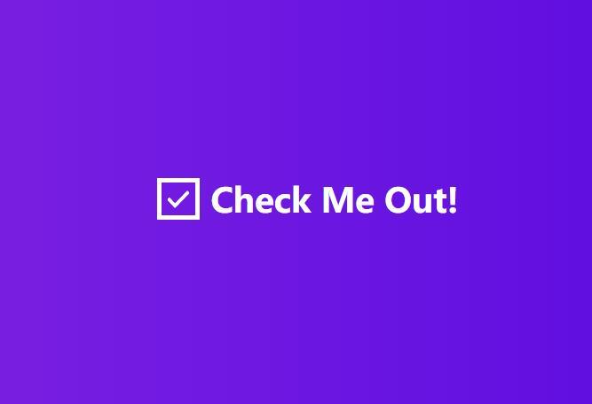 自定义CheckBox复选框美化css3动画样式代码