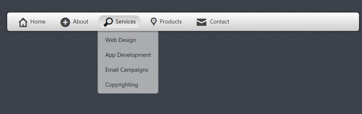 网页css3圆角阴影面包屑二级导航菜单栏样式代码