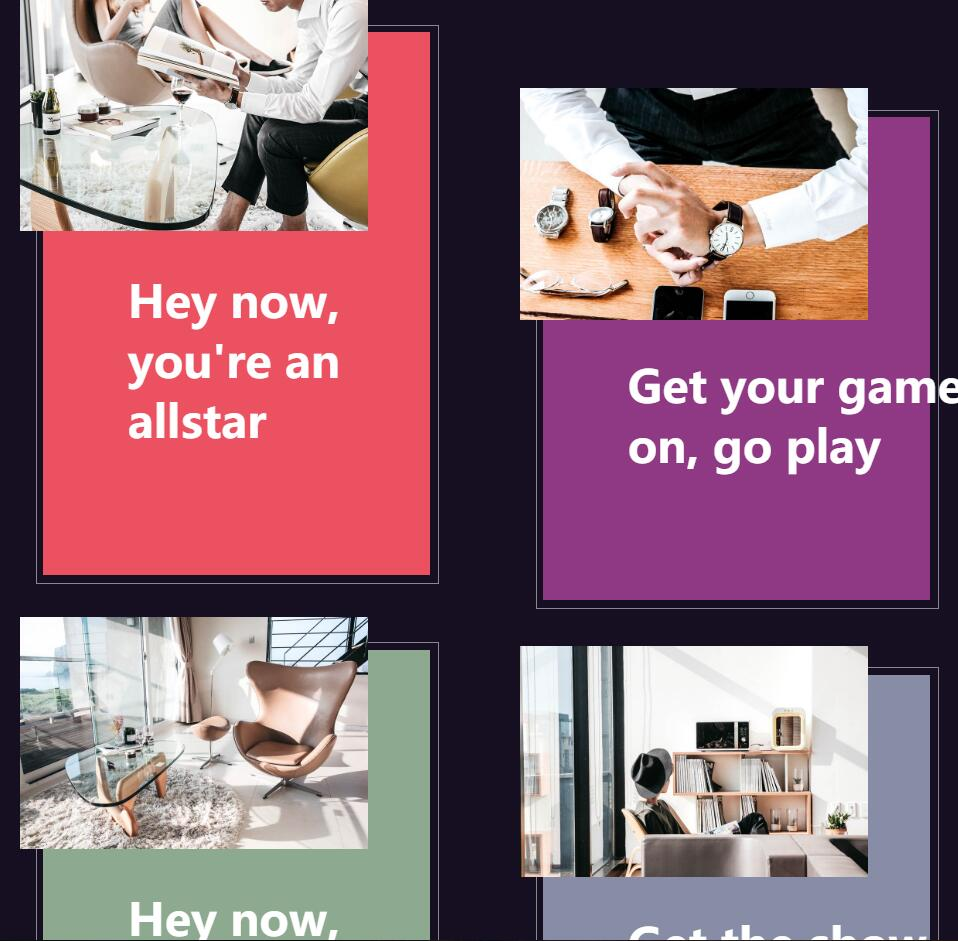网页卡片页面过度放大动画效果jQuery选择器代码