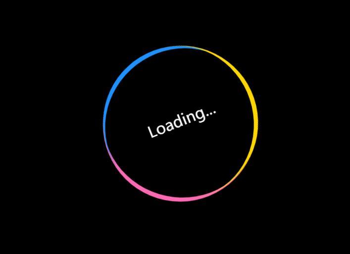 彩虹圆圈环形摇摆动画loading页面加载css3样式代码