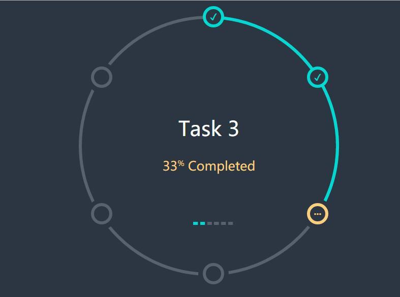 div css伪类圆形任务进度表特效样式代码
