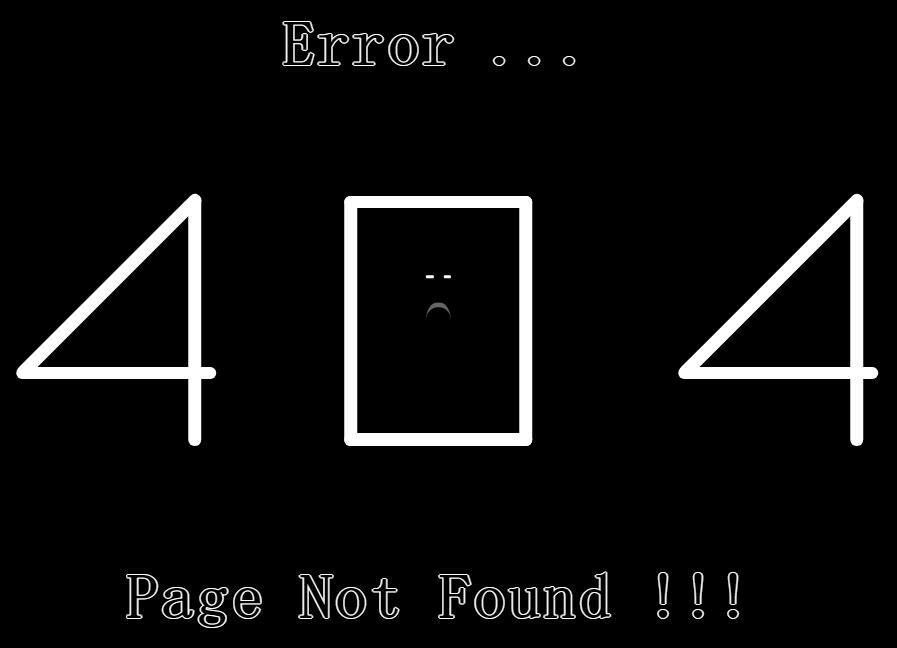 html网站模板404动画写字特效css3样式代码