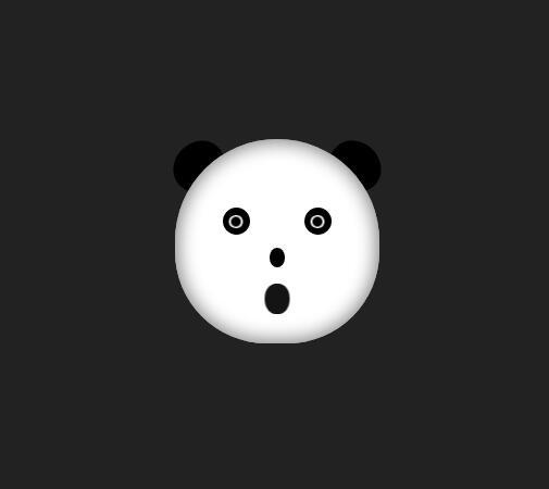 网页动画熊猫娃娃脸部表情css3样式代码