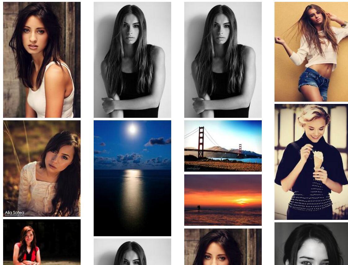 美女图片写真相册瀑布流特效插件网页素材代码