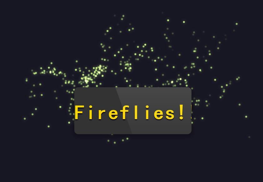 html5 canvas鼠标点击css3圆角图层萤火虫星光点点动画效果代码