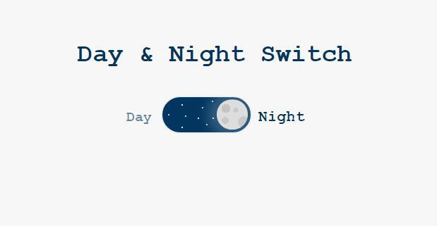 纯css3圆角日夜交替开关按钮html素材代码