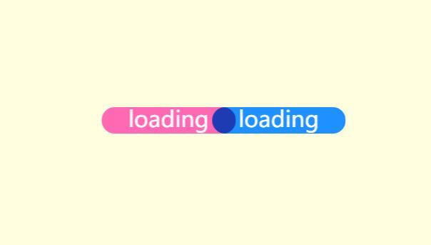 css3圆角半透明左右徘徊移动等待页面请求loading代码