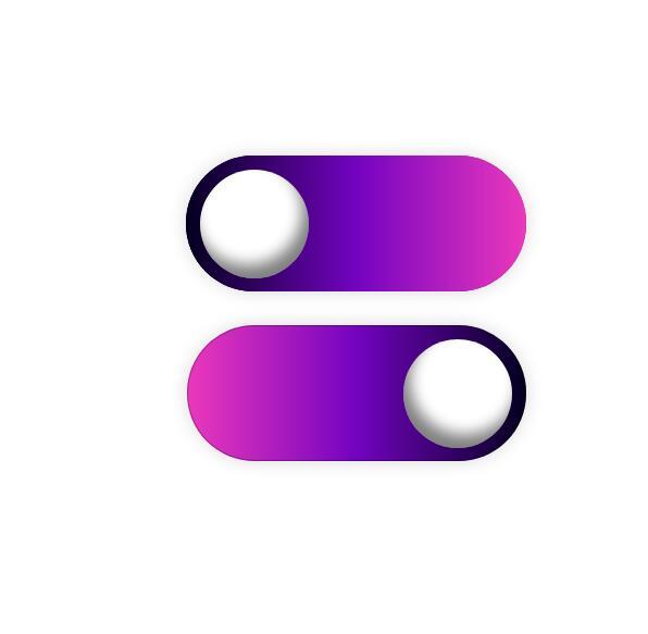 divcss球形圆角开关按钮动画特效网页样式代码