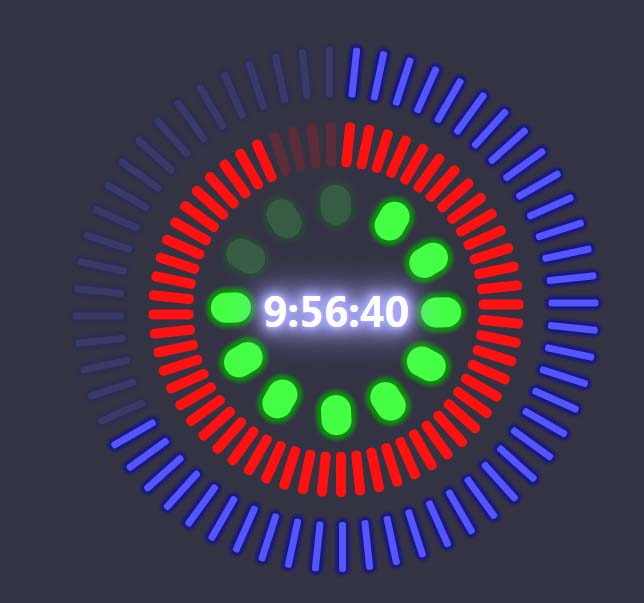 divcss环形阴影响应时钟jQuery特效代码