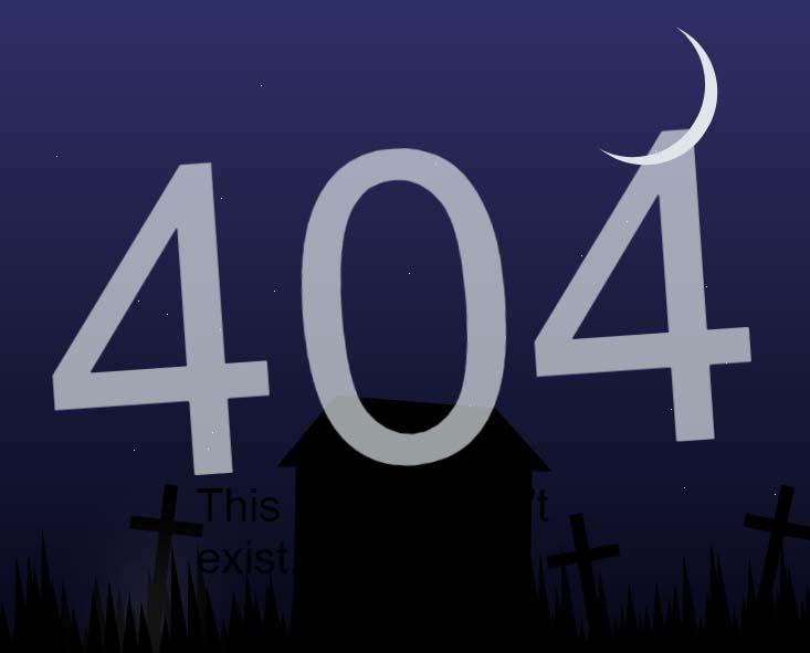 夜间景色404单页面模板样式素材代码