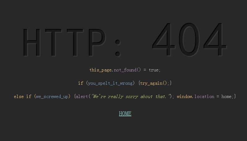 网站模板代码主题404错误页面样式