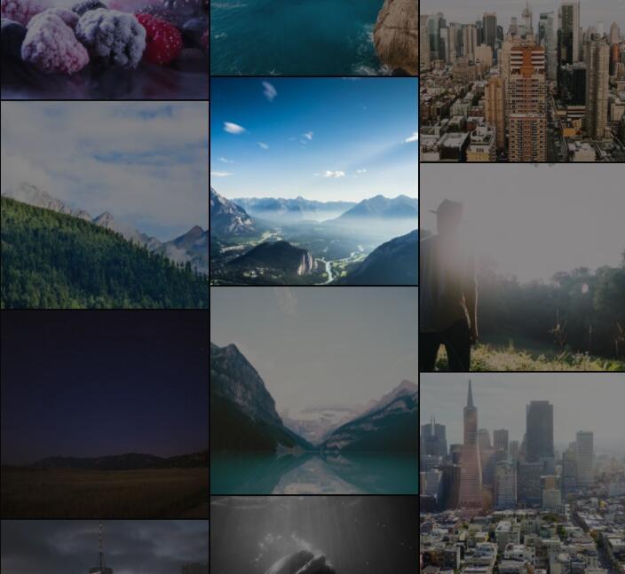 图片瀑布流排版布局动画滚动横幅插件jQuery代码