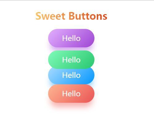 html5css彩色渐变柔性button按钮素材网页样式代码