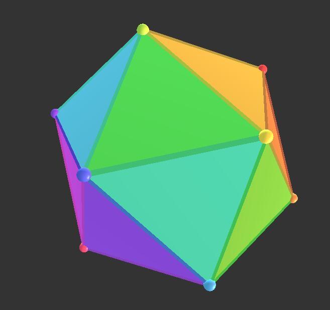 canvas画布P5二十面体3d立方体图形控制器JavaScript代码