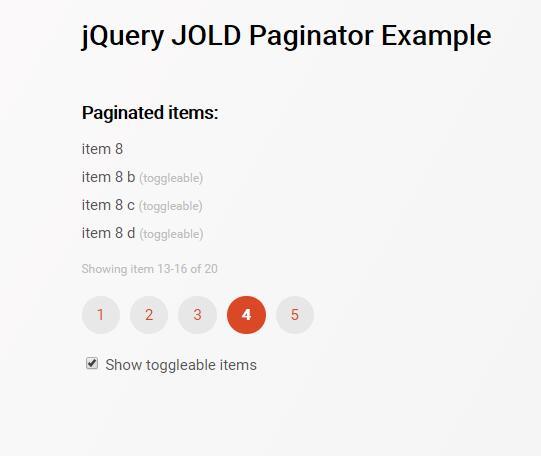 web前端html静态页面jQuery分页插件示例代码