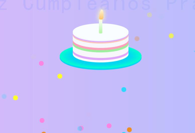 html5css3生日蜡烛燃烧动画特效网页素材代码