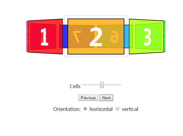 html5css3旋转木马动画特效控制器jQuery代码