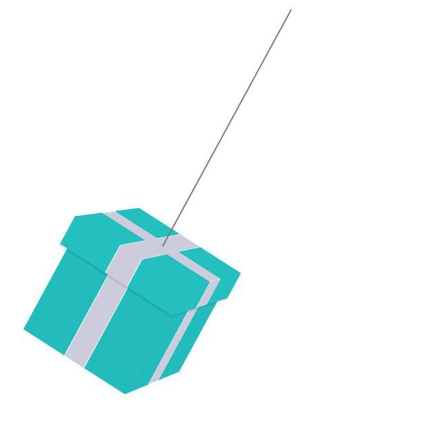 css3立方体礼物盒子吊坠摇摆动画样式代码