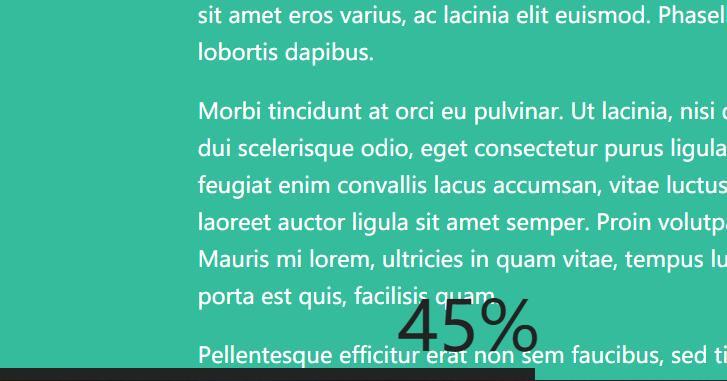 文章内容阅读网页底部进度栏动画示例百分比js代码