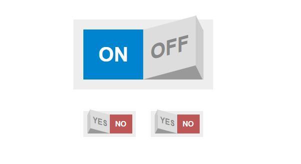 网页CheckBox摇杆拨动3d开关按钮divcss样式代码