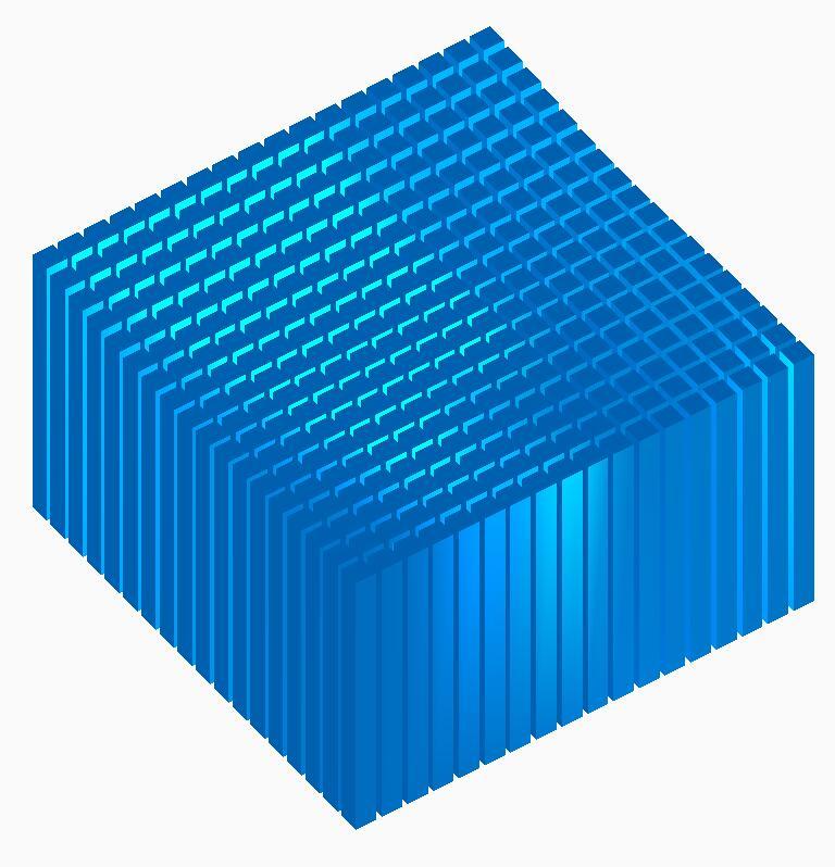 html5 canvas立方体蓝色条形图形起伏动画js特效代码