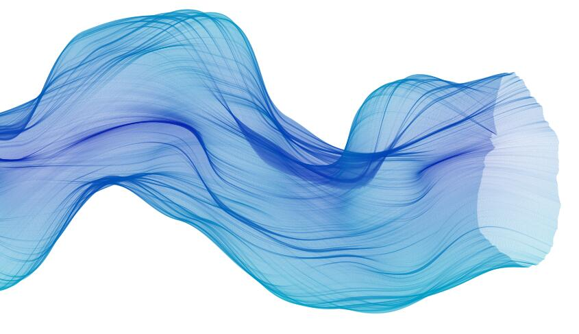 html5 canvas蓝色透明面纱飘散动画JavaScript特效代码