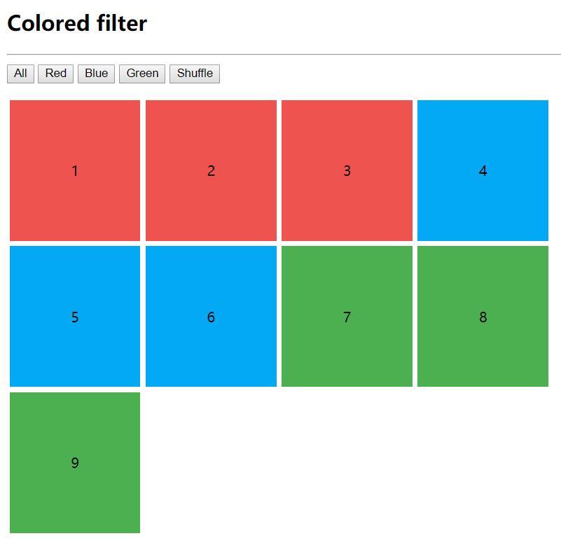 图片分类筛选项功能vue插件代码